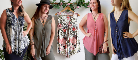 Coconut Summer Tank Top, Womens Top, Plus Size Clothing, Summer Top