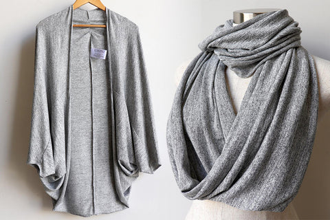 Cocoon Cardigan, Infinity Scarf Snood, Women's Scarf, Women's Cardigan, Plus Size Clothing