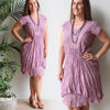 Cotton Overlay Dress, Womens Dress, Plus Size Clothing