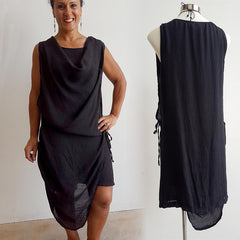 Cowl Tunic Dress, Women's Dress, Plus Size