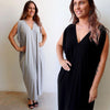Draping Jersey Kaftan Dress, Women's Dress, Plus Size, Summer Dress
