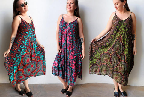 Eva Sun Dress. Women's Dress, Plus Size, Summer Dress