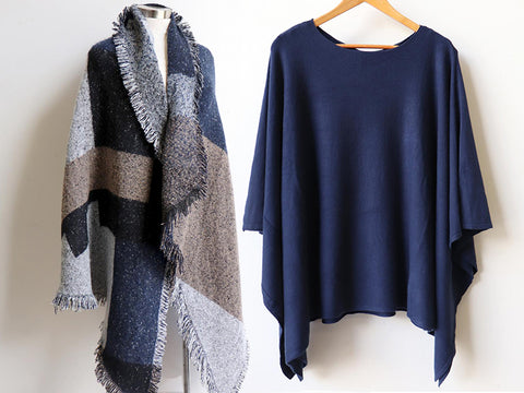 Fireside Scarf, Lakeview Poncho, Women's Poncho, Plus Size Clothing