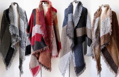 Fireside Wrap Scarf, Women's Scarf, Winter Scarf, Plus Size Clothing