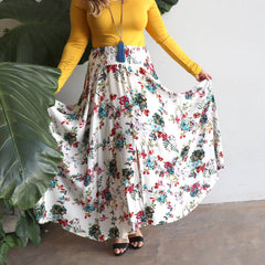 Sasaki Flowing Maxi Skirt, Women's Skirt, Plus Size Skirt.