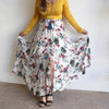 Flowing Maxi Skirt Sasaki, Women's Skirt, Plus Size Clothing, Floral Print