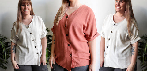 Hamilton Top, Women's Top, Summer Top, Travel Top, Plus Size Clothing