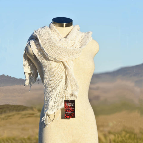 100% Natural Cotton Hand Woven Scarf, Women's Scarf, Winter scarf