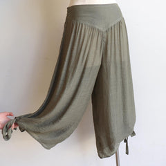 I Dream of Genie Pants, Women's Pants, Plus Size Pants, Eucalyptus Green.