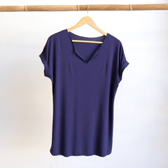 In The Moment Top, Women's Top, Plus Size Top, Navy Blue