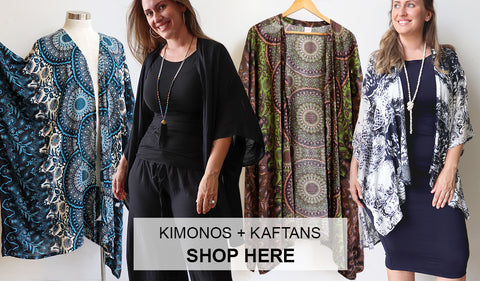 Women's Kimono, Women's Kaftan, Plus Size Clothing, Winter Clothing