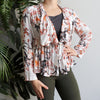 Lady Writer Waterfall Jacket Autumn Floral, Women's Top, Women's Jacket, Plus Size Clothing