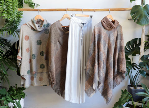 Lazy Days Top, Aspen Poncho, Highlander Poncho, Linen Pants, Winter Tops