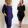 Let It Be Dress, Women's Dress,Sleeved Dress, Plus Size Clothing