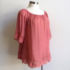 Love Me Do Top, Women's Top, Plus Size, Rose Pink, Summer Top.