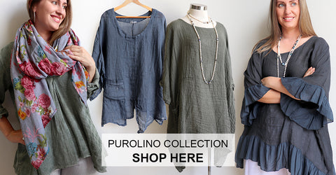Purolino Linen Collection, Italian Linen, Women's Clothing, Plus Size Clothing