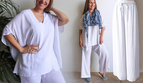 Summer in the City - Linen Blend, Long Island Lounge Pants