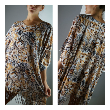 Animal print Summer Kaftan top