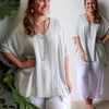 Summer in the City Kaftan Linen Blend, Womens Kaftan, Plus Size Clothing, Linen Top