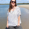 Airlie Beach Top Stripe, Womens Clothing, Plus Size Clothing, Summer Top