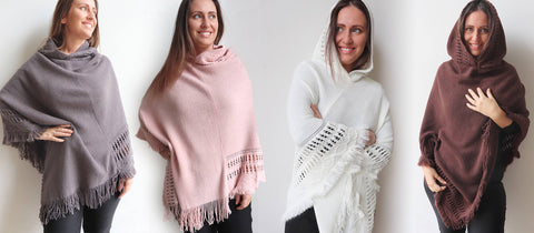 Whistler Poncho with hood, all-size wear available in five colours.