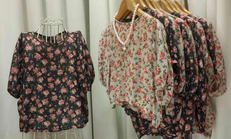Pink Rose Batwing Top