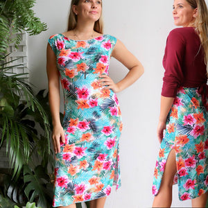 Pina Colada Stretch Shift Dress