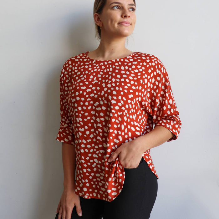 Avoca Blouse - Spot