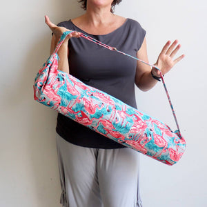 Just Breathe Yoga Mat Bag printed canvas bag.