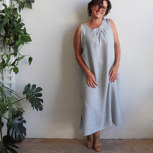 Let's Do Lunch Linen Maxi Dress