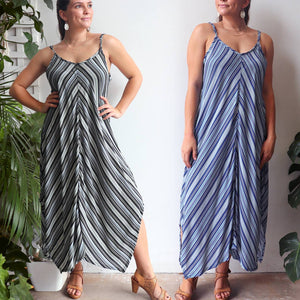 Eva Sun Dress - Stripe