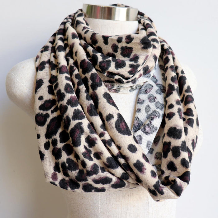 Infinity Scarf Snood - Animal Print