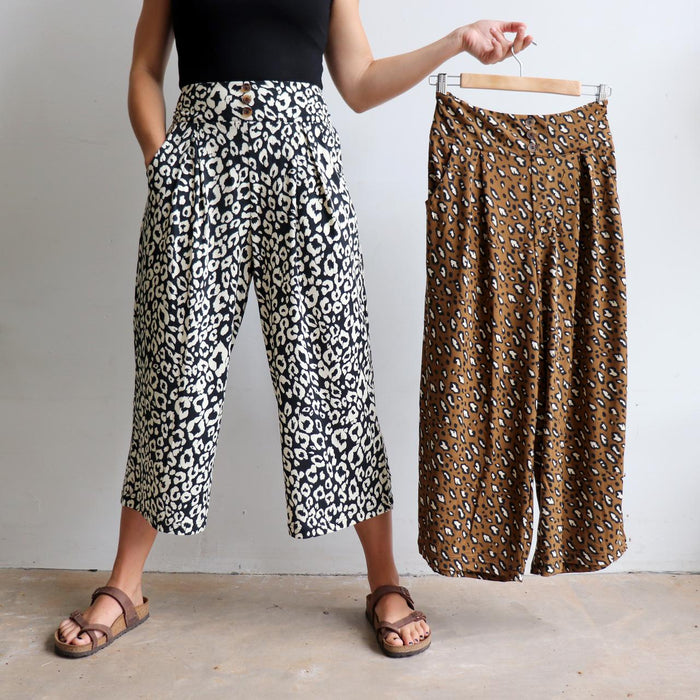 The Lounge Culotte Pant - Animal Print