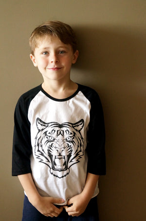 Boy's Cotton T-shirt - Tiger