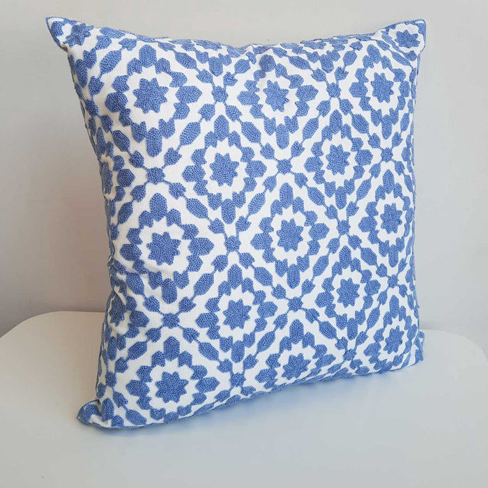 Cotton Embroidery Cushion Cover / Clovelly