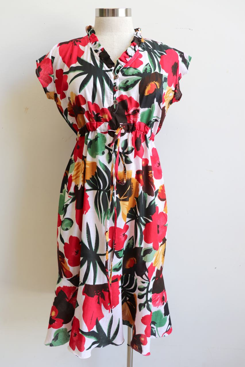 c7c855dc275 ... A Sunday Dress is a feminine floral below-the-knee frock handmade in  100 ...