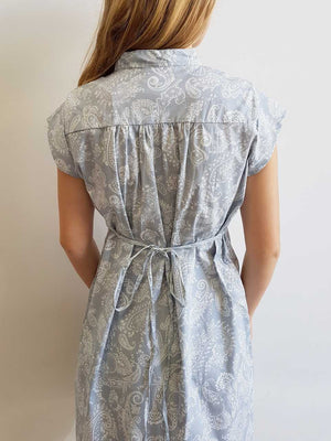 Anne Shirt Dress Silver Paisley Original Kobomo Print