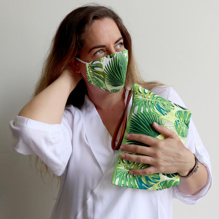 Anything Goes Washable Face Mask - Tropical Leaves