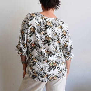 Avoca Blouse - Palm Print