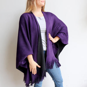 Broadway Knit Wrap - Reversible Colour