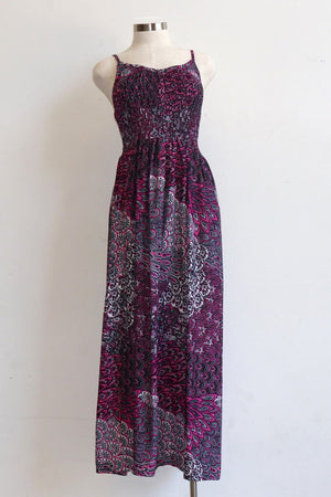 Celia Maxi Sun Dress - Paisley Peacock