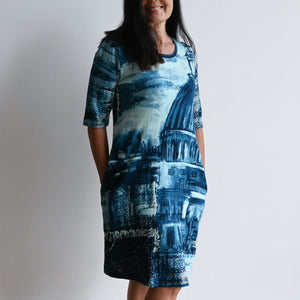 Organic Cotton T-shirt Dress by Orientique - Denim Sketch