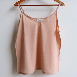 Cotton Camisole Top in Petite to Plus Sizes. Nude.