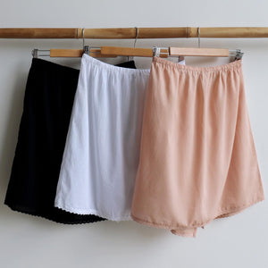 Cotton Half Slip Skirt Petticoat Underwear.