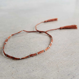 Festival Dream Thread Bracelet.  Burnt Umber