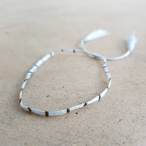 Festival Dream Thread Bracelet. Silver