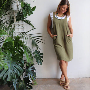 First Point Pinafore Dress