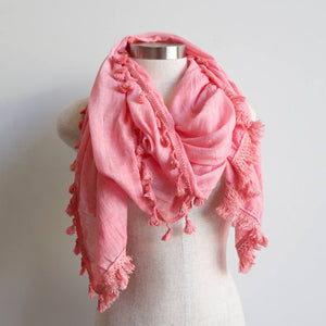 Footloose Scarf in Candy Pink.