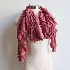 Footloose Scarf in Dusty Pink.