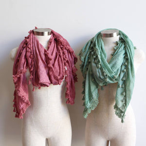 Footloose Scarf in Dusty Pink + Sage Green,